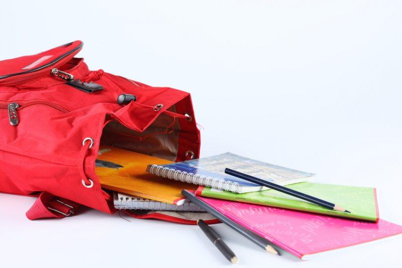 Open Backpack School Supplies