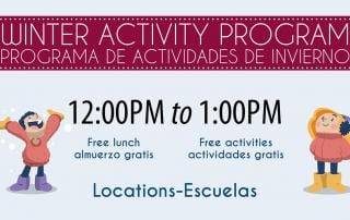 Free Lunch and Activities for ALL Ages 1-18 During Winter Break 2019 - Locations